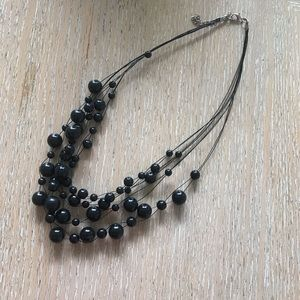 Jewelry - Multi layered black costume necklace
